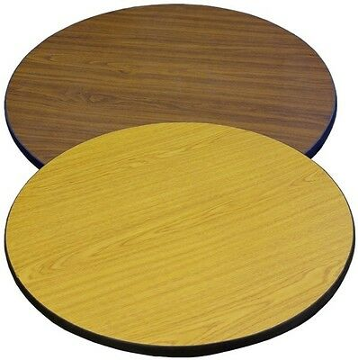 """New 24"""" Round Table Top Oak Laminate Restaurant Furniture Tables"""