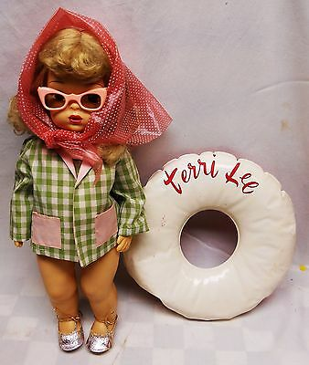 """Vintage 1950's Terri Lee 17"""" Doll Wearing Day At The Beach O/f Ultra Rare  Nice!"""
