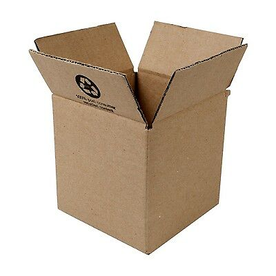 "Duck Brand Kraft Corrugated Shipping Boxes 6"" x 6"" x 6"" Brown 12-Pack (394540)"