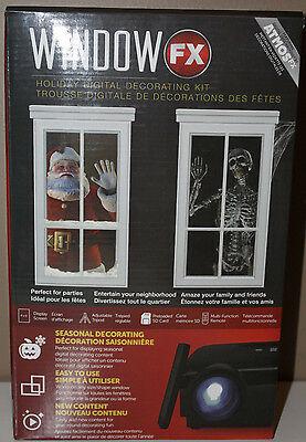 Window FX Atmos Holiday Digital Decorating Kit Projector Xmas Halloween New Year