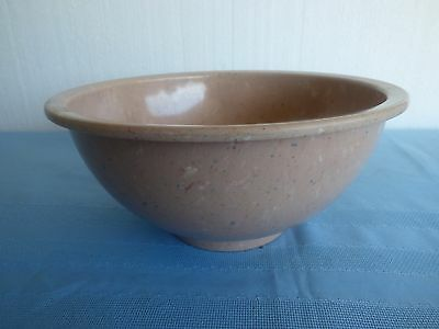 Texas Ware light pink speckled large bowl # 118 3-4 qt. nice