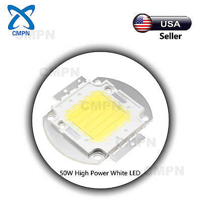 1Pcs 50Watt High Power LED Chip SMD White 6000-6500k Light Lamp Diodes Beads USA