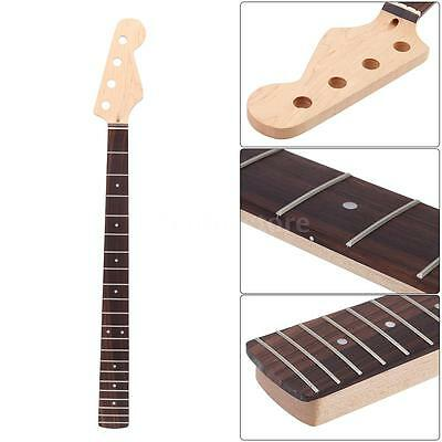 21 Fret Bass Maple Neck Rosewood Fingerboard JAZZ Replacement Brand New W1M5