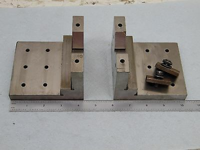 V Blocks and Clamping Fixture matched pair look at the pics for size