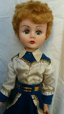 """rare 1950's GAIL OF THE WEST 25"""" deluxe reading doll in RARE outfit"""