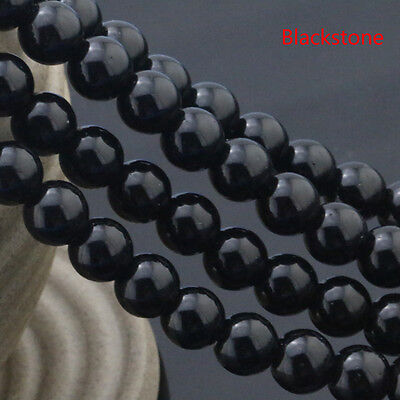Natural Stone Genuine Black Tourmaline Gemstone Beads For Jewelry Making 15""
