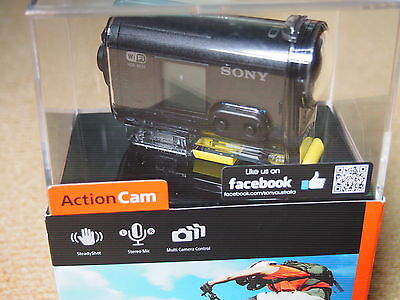 SONY HDR AS20 Action Cam, New in Box, never opened. Includes waterproof case.