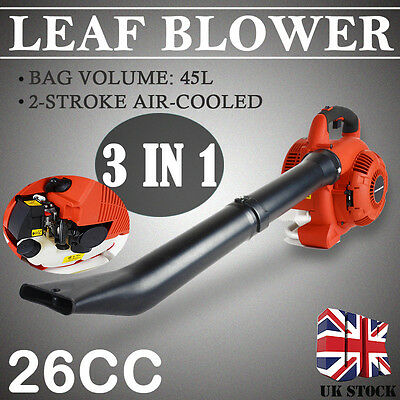 3 in 1 Petrol Leaf Blower Vacuum Shredder Gas Powered Shredding Garden New
