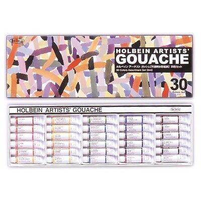 NEW Holbein Artists' Gouache Opaque Watercolor 30 Colors Set JAPAN