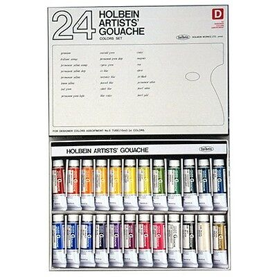NEW Holbein Artists' Gouache Designer's 24 Color Set G722 15ml (No.5)