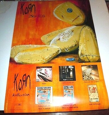 KORN~Issues~Original Promo Poster~24x36~Excellent Condition~1999~Double Sided