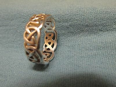 Carolyn Pollack~Carlisle~Sterling Silver 6 mm Trinity Knot Band Sz 6 Celtic Ring