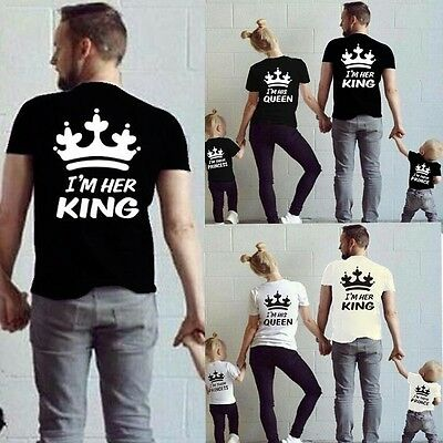 Family Couple Shirts Casual T-Shirt King Queen Princess Prince Love Matching Tee
