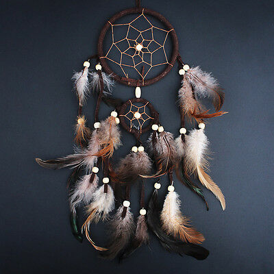 Dark Brown Medium size Indian Style Dream Catcher Handmade Hanging Decoration