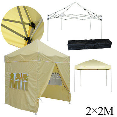 Waterproof 2x2m Pop Up Gazebo Marquee Garden Awning Party Tent Canopy
