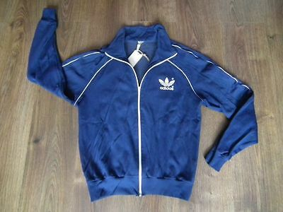 Adidas Classic 70's 80's Europa  Blue Track Top  100% Authentic