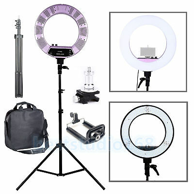 "Photo Studio 18"" 480PCS 5500K Dimmable LED Adjustable Ring Light +2M Light Stand"