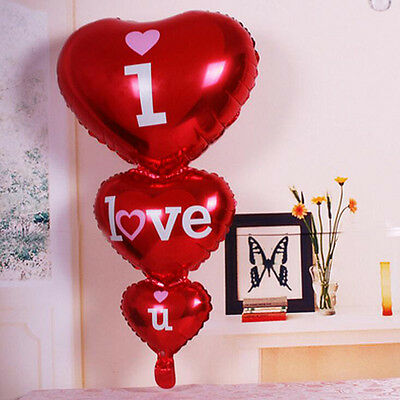 New Heart Balloons I Love You Balloons for Party Weddings Valentine Decor