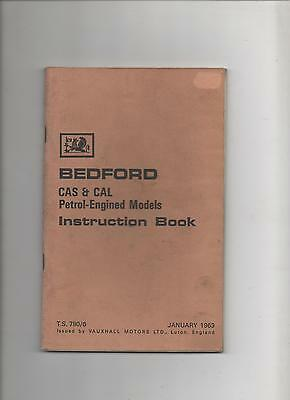 Bedford Cas & Cal - Petrol Instruction Book / Manual / Handbook - 1969