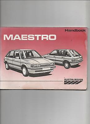 Austin Maestro Drivers Handbook / Owners Manual