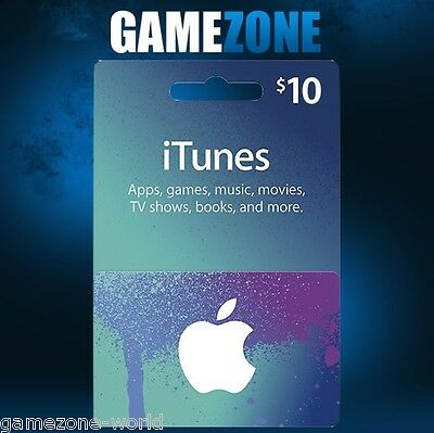 iTunes Gift Card $10 USD USA Apple iTunes Code 10 Dollars United States