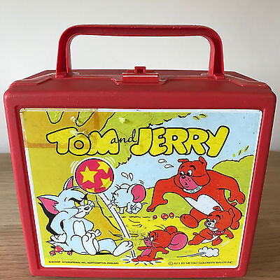 Vintage Tom & Jerry Plastic Lunch Box - By Aladdin 1973 Rare - Made In England