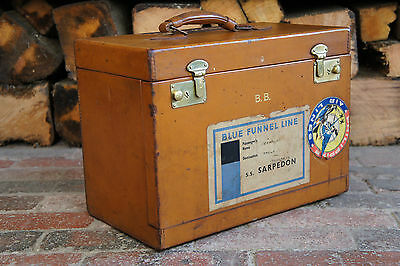 Fine Vintage Leather Box by HARDY drop down front