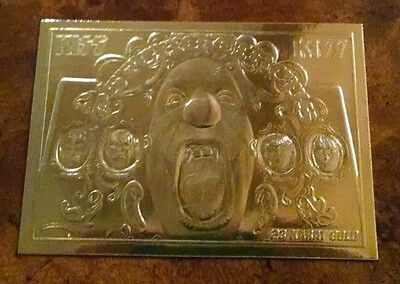 KISS PSYCHO CIRCUS Album Cover 23KT Gold Card by Bleachers! FREE SHIPPING!!