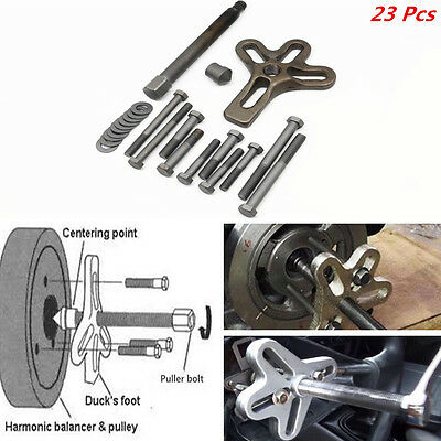 Universal Car 23 Piece Carbon Steel Harmonic Balancer Steering Wheel Puller Tool