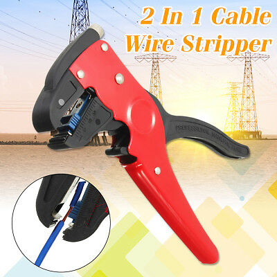 2 In 1  Electrician Cutter Automatic Cable Wire Stripper Tool Crimper Stripping