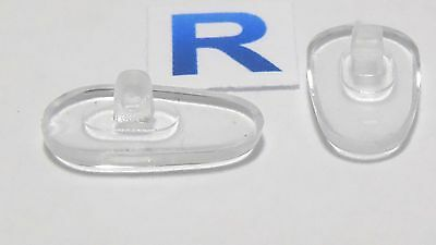 Pair of silicone replacement nose pads clear glasses spares silicon parts UK