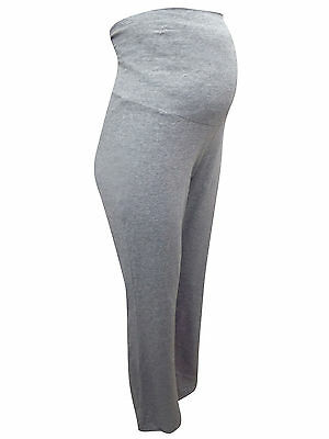 Maternity Trousers Lounge Pants Grey Marl Jersey Sizes 8-16