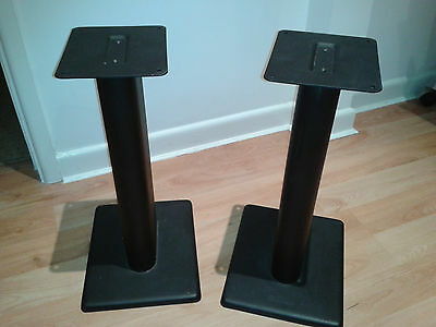 Hi-fi speaker stands, pair, 20 inches high, coated metal, sand filled