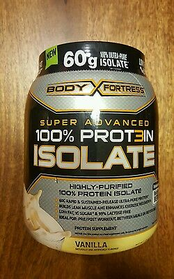 Protein Isolate Vanilla  Flavor (1.33 Lbs) for Lean Muscle by Body Fortress