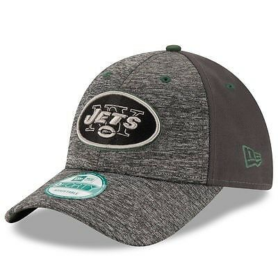 New York Jets New Era 9Forty Shadow Adjustable Cap - Heather Grey/Graphite