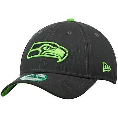 Seattle Seahawks New Era 9Forty Grafpop Adjustable Cap - Graphite