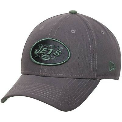New York Jets New Era 9Forty Grafpop Adjustable Cap - Graphite