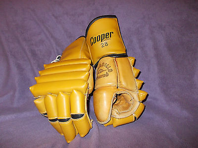 VINTAGE COOPER 28 HOCKEY GLOVES Leather Armadillo Thumb Forearm protection