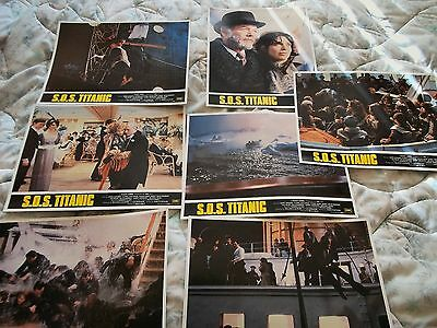 SOS Titanic 1979  Lobby Cards (14x11) set of 8. mint condition.