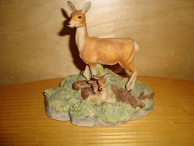 BFA The Chiltern Collection Deer Hind and Calf Figurine