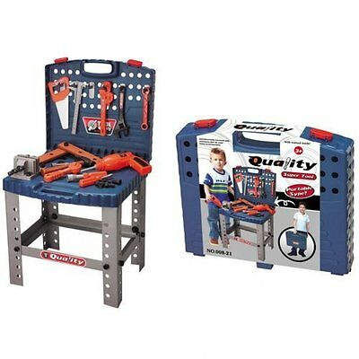 Childrens Work Bench Kids Play Set With Tools Diy Tool Kit Construction Toy-new