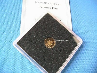 ORO / GOLD 333 - 5 DM 1952 - GERMANISCHES MUSEUM / PP PROOF / 0,5 g / 11 mm