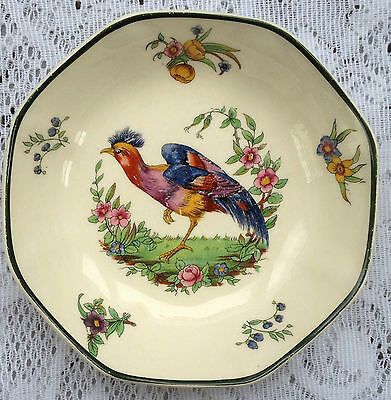 Vintage Royal Doulton 'Lytton' Exotic Bird  octagon dish (342)