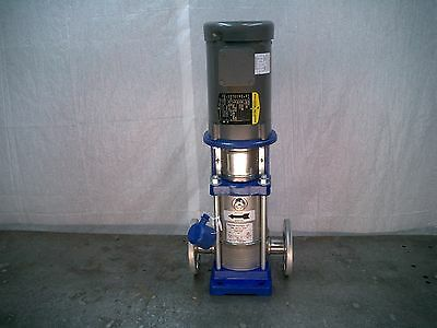 Goulds Model SSV Vertical Centrifugal Pump 4-Stage 1.5HP 230/460 VAC