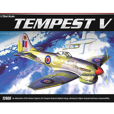 Academy 1/72 FA167 TEMPEST V Fighter Plastic Model Kit Airplanes #12466