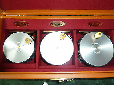 Hardy 1912 Wide Spool Perfect Special Limited Edition Salmon Set In Leather Case