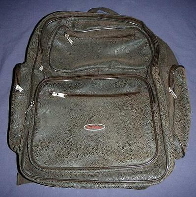 Tim Hortons Logo Brown Leather Backpack New