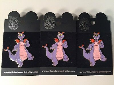 Disney's Figment the Dragon Pin NEW Lot Of 3