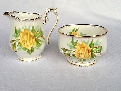 Royal Albert 'Tea Rose' Open Sugar & Creamer (491)