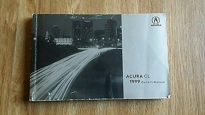 1999 Acura Cl Owners Manual Book Guide